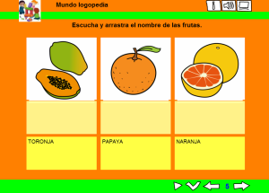 Arrastrar frutas