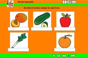 Escribir el nombre de las frutas.PNG.,